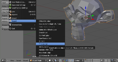 .js export Blender